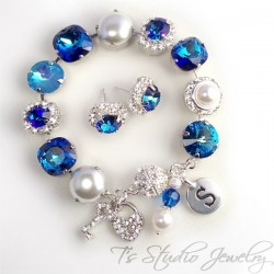 Pacific Ocean Bermuda Blue Bracelet- 12mm