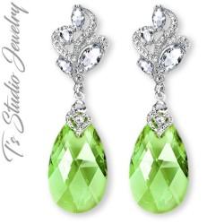 Peridot Light Green Bridesmaid Earrings
