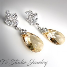 Golden Shadow Sand Bridesmaid Earrings