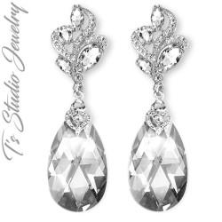 Neutral Grey Sand Stone Bridesmaid Earrings