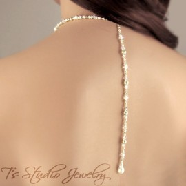 Back Drop Pearl Bridal Necklace