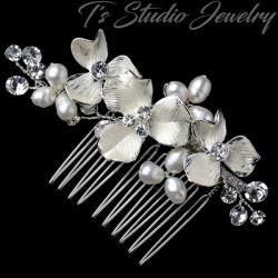 Freshwater Pearl & Crystal Bridal Hair Comb