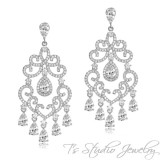 Delicate Crystal Chandelier Bridal Earrings