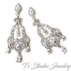 Dainty Victorian Chandelier Bridal Earrings