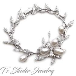 Freshwater Pearl Bridal Wedding Bracelet