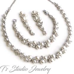 Pearl Bridal Wedding Jewelry Set