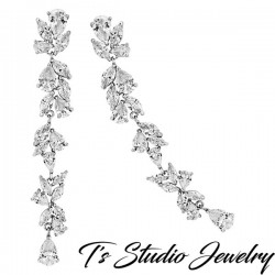 Long Earrings Cubic Zirconia Shoulder Dusters