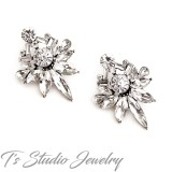 Romantic Vintage Crystal Stud Earrings