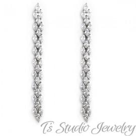 Marquise CZ Cubic Zirconia Tennis Bridal Bracelet & Earrings
