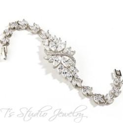 Marquis CZ Silver Bridal Bracelet