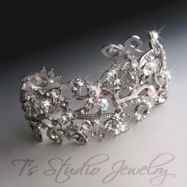 Clear Crystal Silver Rhinestone Bridal Bracelet