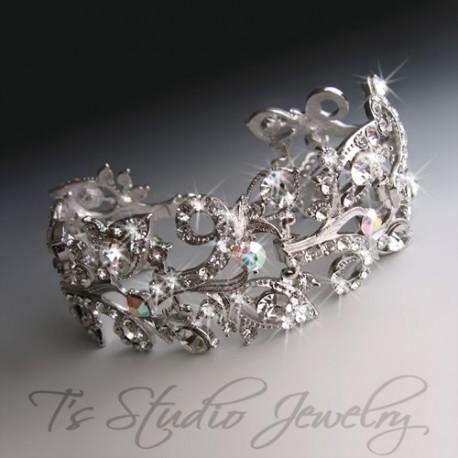 Crystal Rhinestone Bridal Bracelet