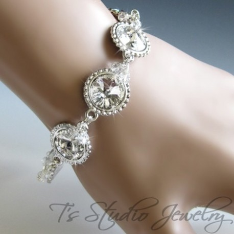 Round Crystal Bridesmaid Bracelet