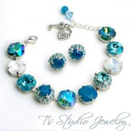 Turquoise Aqua Marine Spa Blue Bracelet