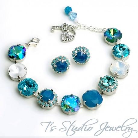 Turquoise Aqua Marine Spa Blue Bracelet - 12mm