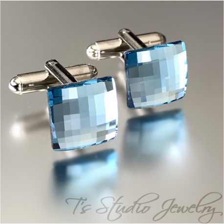 Swarovski Crystal Cufflinks Square Chessboard