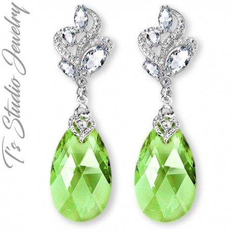 CZ & Swarovski Teardrop Bridesmaid Earrings