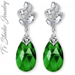 Emerald Jade Green Bridesmaid Earrings