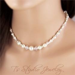 Back Drop Pearl Bridal Necklace