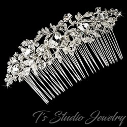 Vintage Style Leafy Bridal Hair Comb