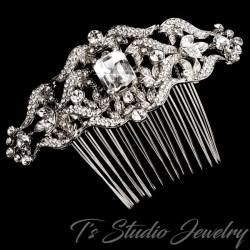Vintage Art Deco Style Bridal Hair Comb