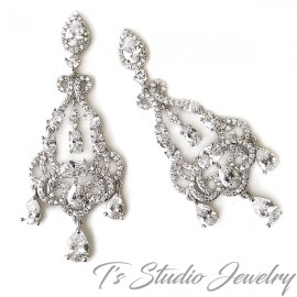 Dainty Victorian Chandelier Bridal Earrings
