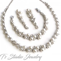 Pearl Bridal Wedding Jewelry Set
