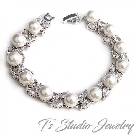 Great Gatsby Vintage Style Cubic Zirconia Bridal Bracelet