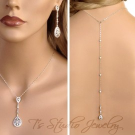 Great Gatsby Backdrop Lariat Necklace Set