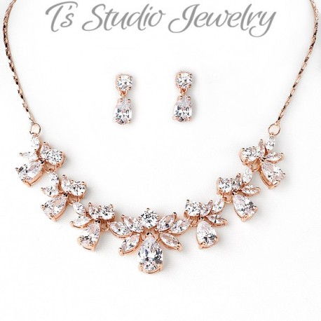 CZ Cubic Zirconia Bridal Jewelry Set