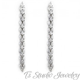 Marquise CZ Cubic Zirconia Tennis Bridal Bracelet & Earrings