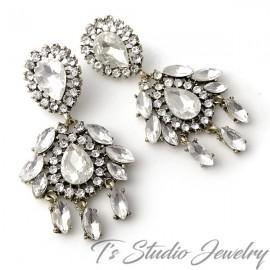 Vintage Style Antique Brass Chandelier Earrings
