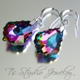 Crystal Rainbow Baroque Bridesmaid Earrings