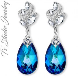 Pantone Classic Blue Color of the Year Bridal Bridesmaid Earrings