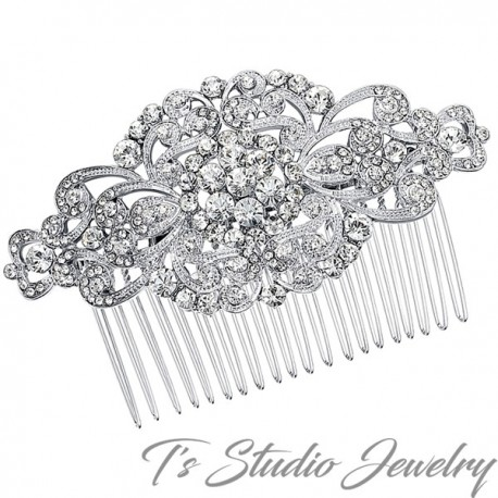 Crystal and Silver Bridal Hair Comb