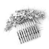 Crystal Butterfly Bridal Hair Comb