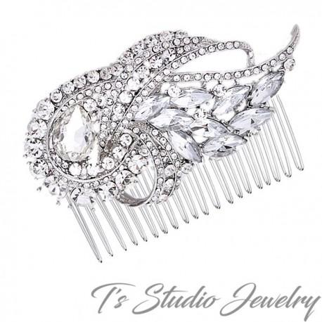 Crystal Rhinestone Wedding Hair Comb