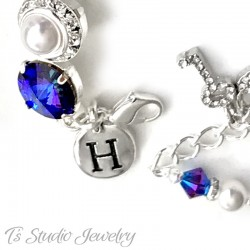 Silver Initial Charm - Add on item only