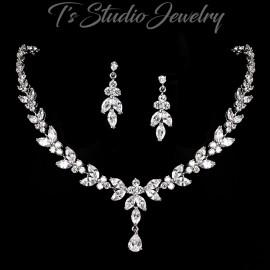 CZ Crystal Bridal Jewelry Set