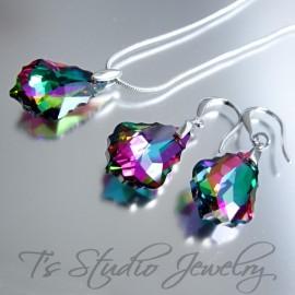 Rainbow Crystal Teardrop Bridesmaid Earrings