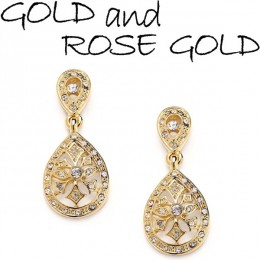 Gold and Rose Gold Earrings